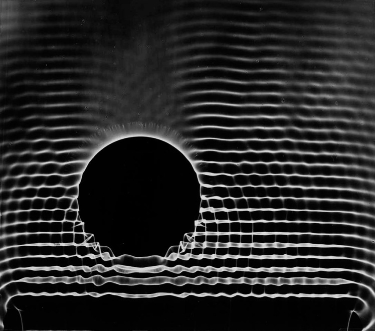 BERENICE ABBOTT | shadows produced by water waves (1958)
